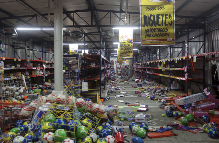 Image: Products litter the floor after a store was ransacked in the port city of Veracruz, Mexico on Jan. 4.
