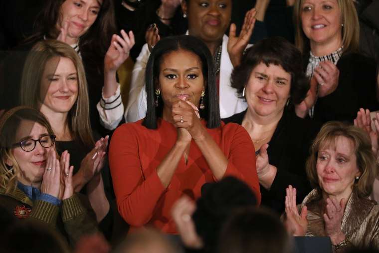 Image: Michelle Obama Delivers Final Speech At The White House
