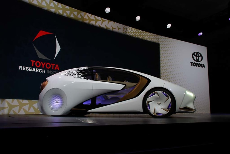 Toyota's Concept-i prototype uses AI to see whether a driver is tired or distracted.