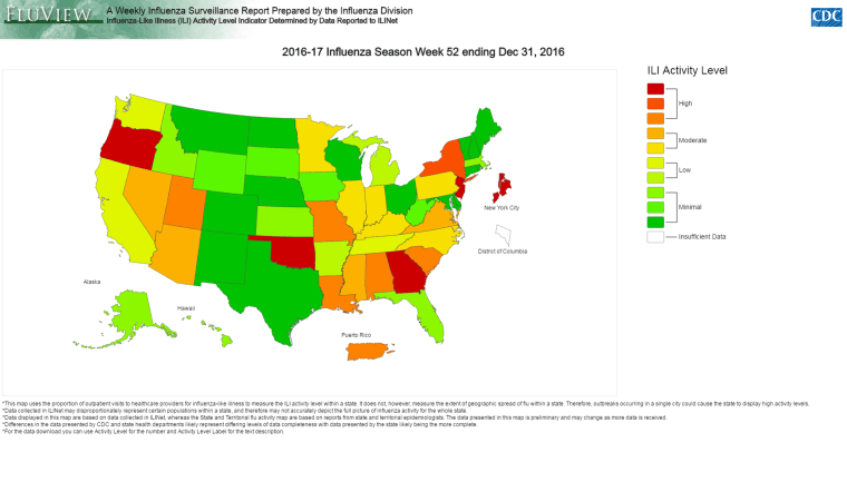 Flu Season is Getting Worse, CDC Says on dengue fever map, varicella map, migraine map, hepatitis c map, schizophrenia map, whooping cough map, infection map, stroke map, marburg hemorrhagic fever map, pandemic map, plague map, measles mumps rubella map, hiv/aids map, uti map, disease map, virus map, smallpox map, trypanosomiasis map, epilepsy map, flu map,