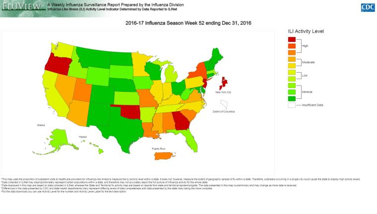 Image: Weekly Influenza Surveillance Report