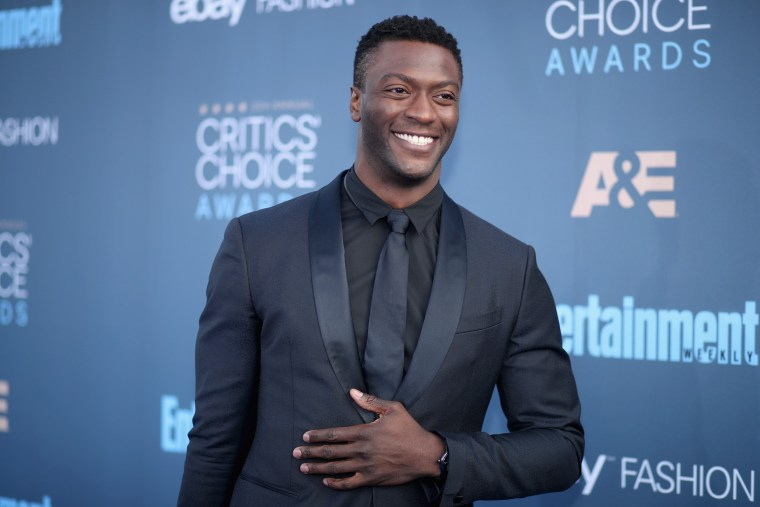 Image: Actor Aldis Hodge attends The 22nd Annual Critics' Choice Awards at Barker Hangar on Dec.11, 2016 in Santa Monica, Calif.