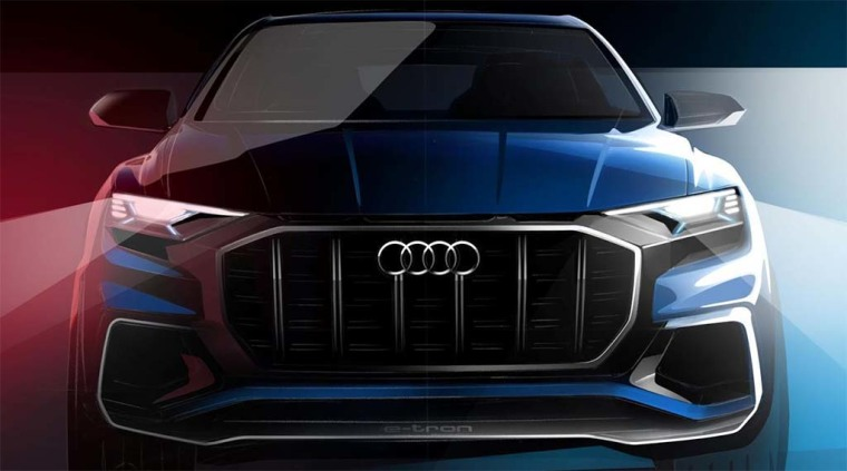 A rendering of the Audi Q8 Concept car.
