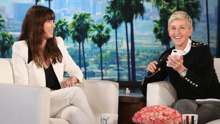 Jessica Biel on The Ellen DeGeneres Show