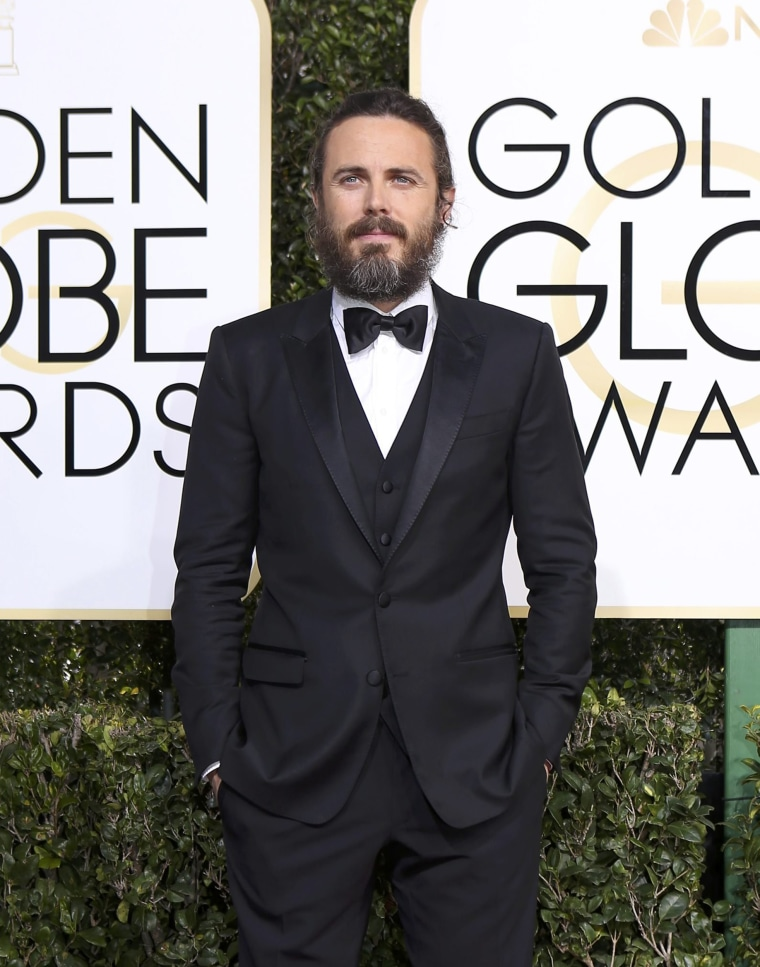 Casey Affleck arrives at the 74th Annual Golden Globe Awards in Beverly Hills