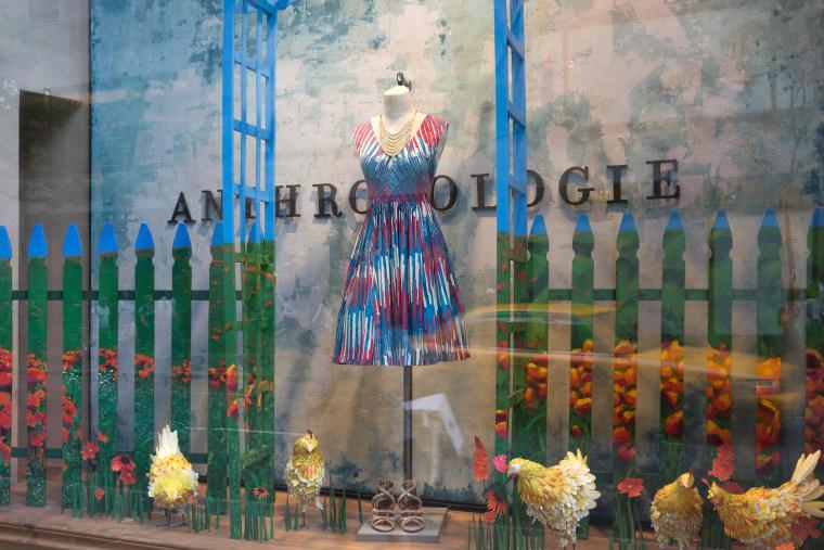 Anthropologie store at Rockefeller center