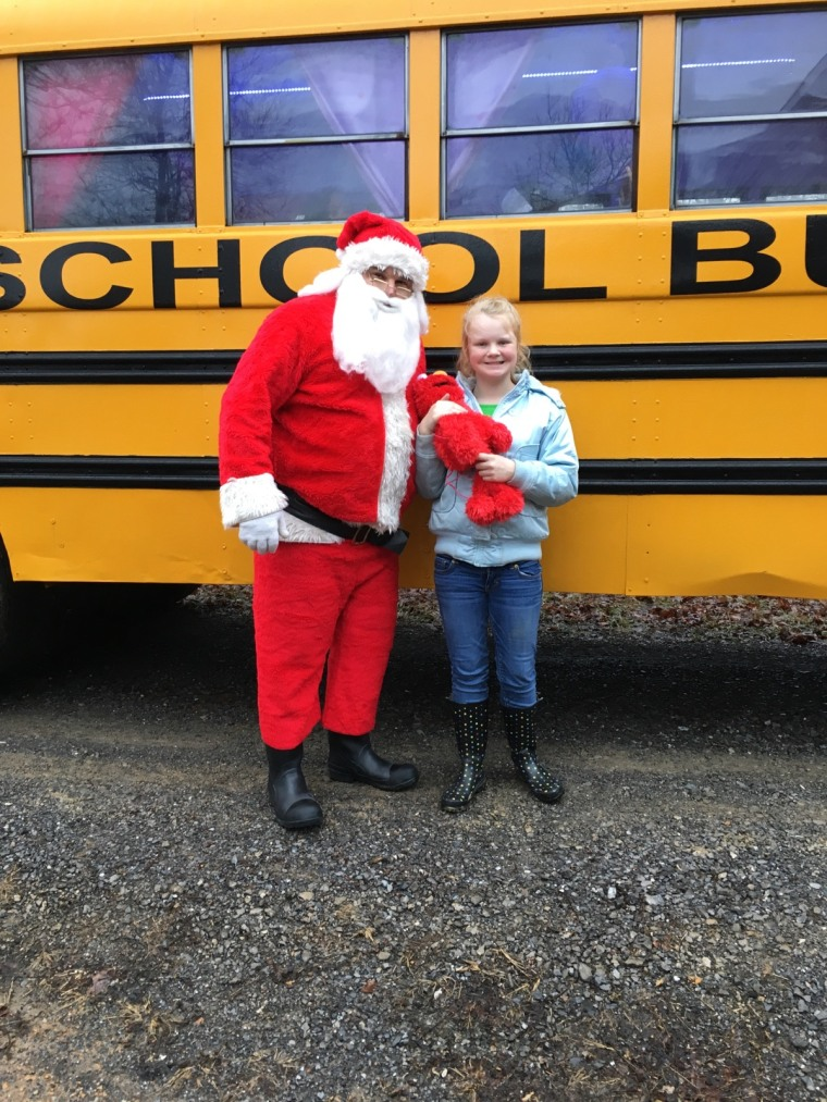 Santa delivered the bus personally!