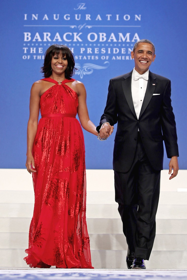 Michelle Obama inauguration red dress