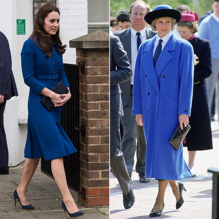 Catherine, Duchess of Cambridge, and Princess Diana in blue