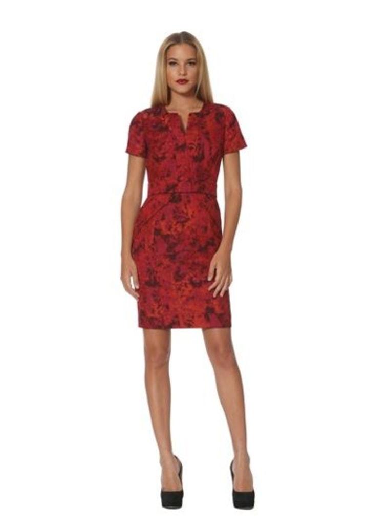 Jacquard V-Neck Dress,