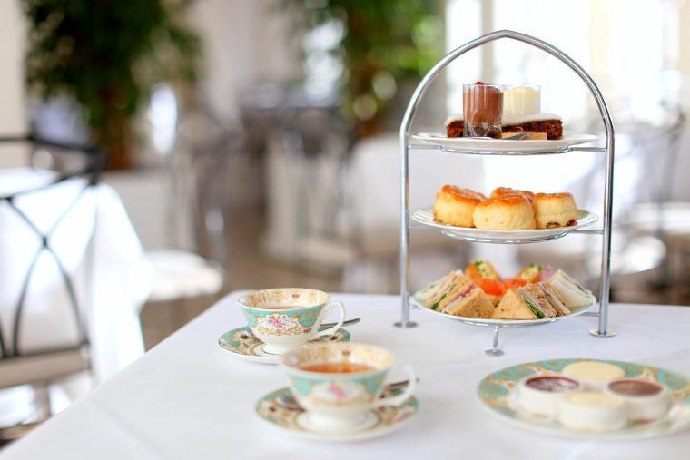 Tea service at The Orangery Restaurant at Kensington Palace.