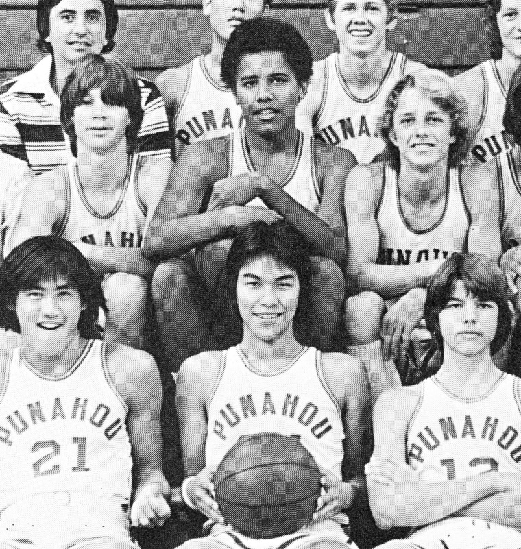 Image: Barack (Barry) Obama Sophomore Year 1977