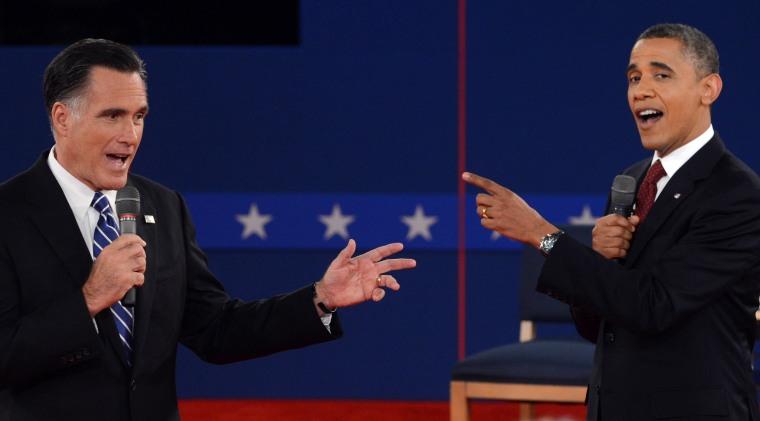 Image: TOPSHOTS-US-VOTE-2012-DEBATE