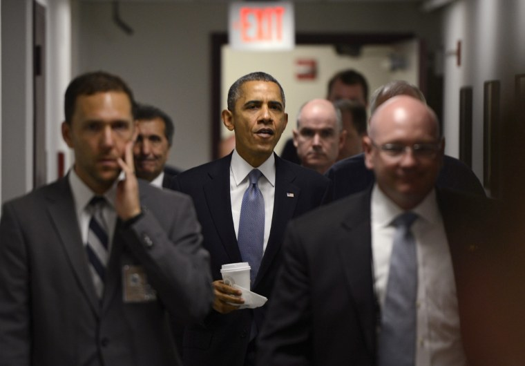 Image: President Obama visits FEMA and delivers rtemarks on the Government Shutdown.