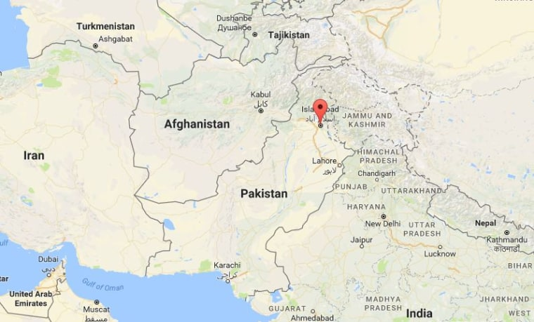 Image: Map showing the location of Islamabad, Pakistan