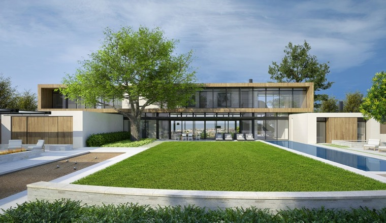 A currently under construction KAA Design project in La Jolla, California.