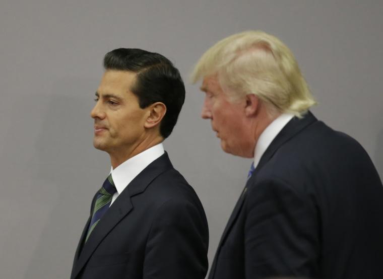 U.S. presidential nominee Trump and Mexico's President Pena Nieto finish a press conference in Mexico City