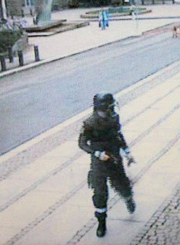 Image: Anders Breivik in image taken from surveillance camera on July 22, 2011