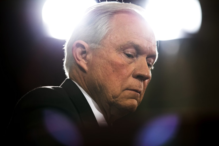 Image: Alabama Sen. Jeff Sessions testifies at his confirmation hearing to be the Trump administration's Attorney General in the Russell Senate Office Building  in Washington, D.C. on Jan. 10.