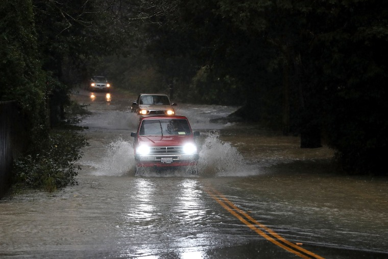 Image: New Round Of Storms Brings Flooding To Northern California