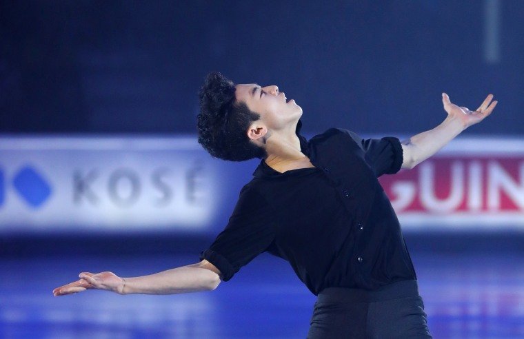 American Nathan Chen performs during the exhibition at the ISU Grand Prix Final in Marseille, France on Dec.11, 2016.