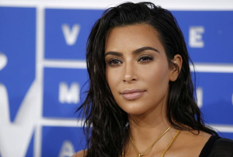 Image: FILE PHOTO -  Kim Kardashian arrives at the 2016 MTV Video Music Awards in New York