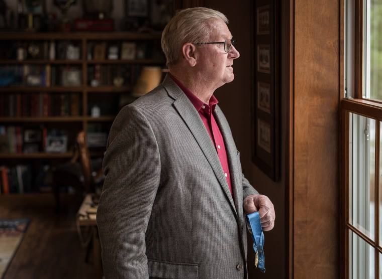 Vietnam veteran Sammy Lee Davis, 70, at his home near Freedom, Indiana.