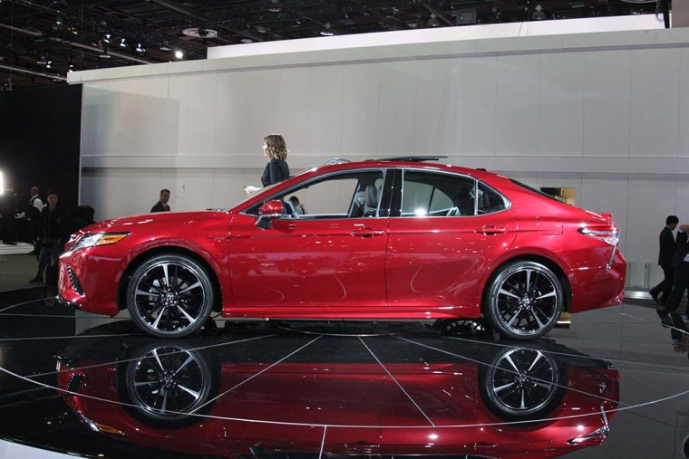 """Attendees at the Detroit auto show, where the car was unveiled, couldn't decide if the new Camry was """"Sexy..."""""""