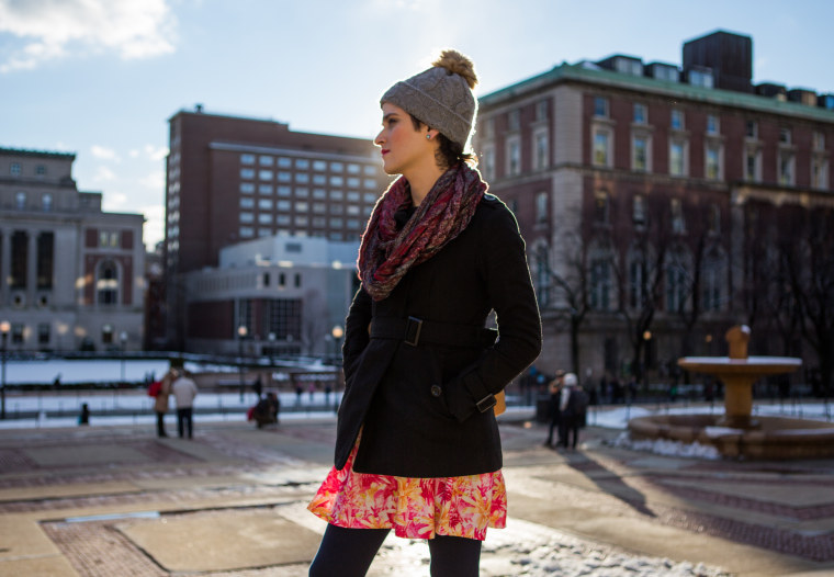 Transgender advocate Abby Stein on the campus of Columbia University