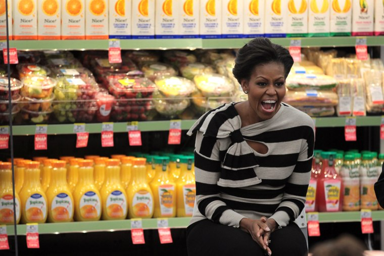 Image: First Lady Michelle Obama Visits Chicago Promoting Healthy Food Options