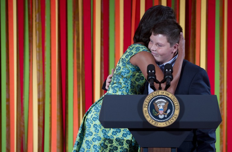 Image: US-POLITICS-OBAMA-KIDS