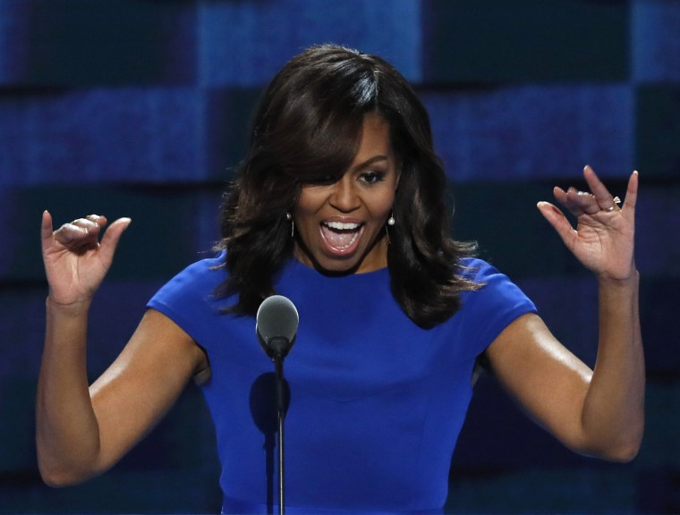 Image: U.S. first lady Michelle Obama speaks at the Democratic National Convention in Philadelphia