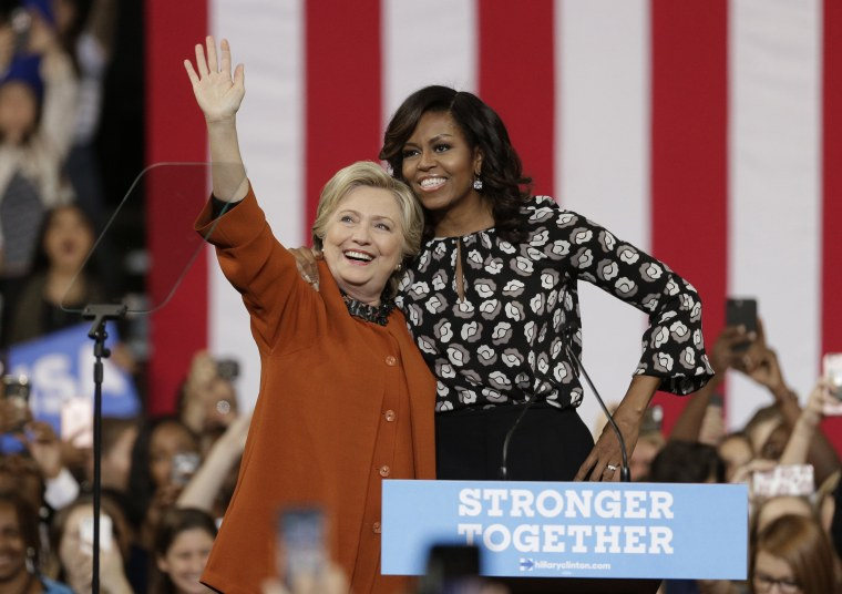 Image: Michelle Obama, Hillary Clinton