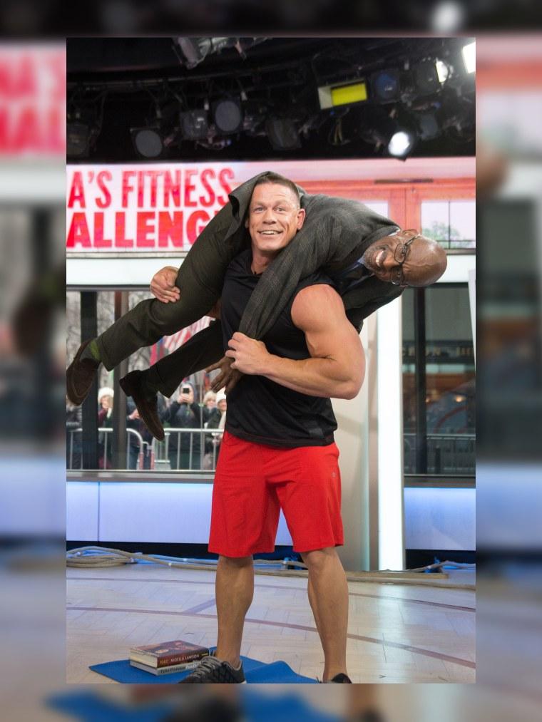 John Cena Lifts Al Roker