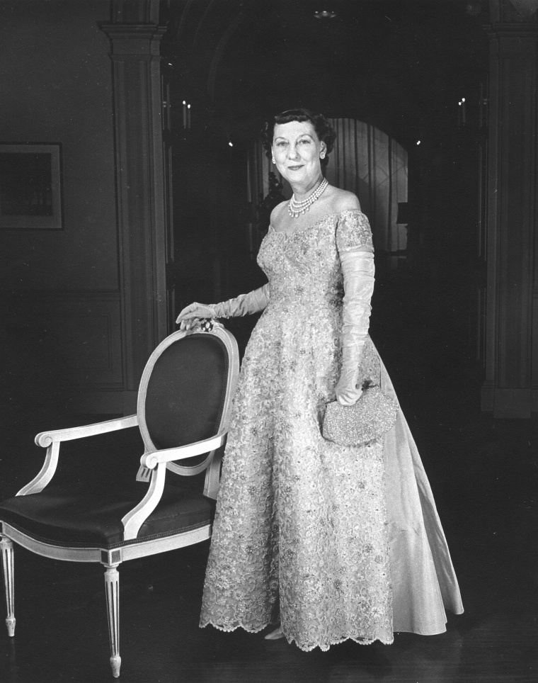 The First Lady Eisenhower In Her Ball Gown
