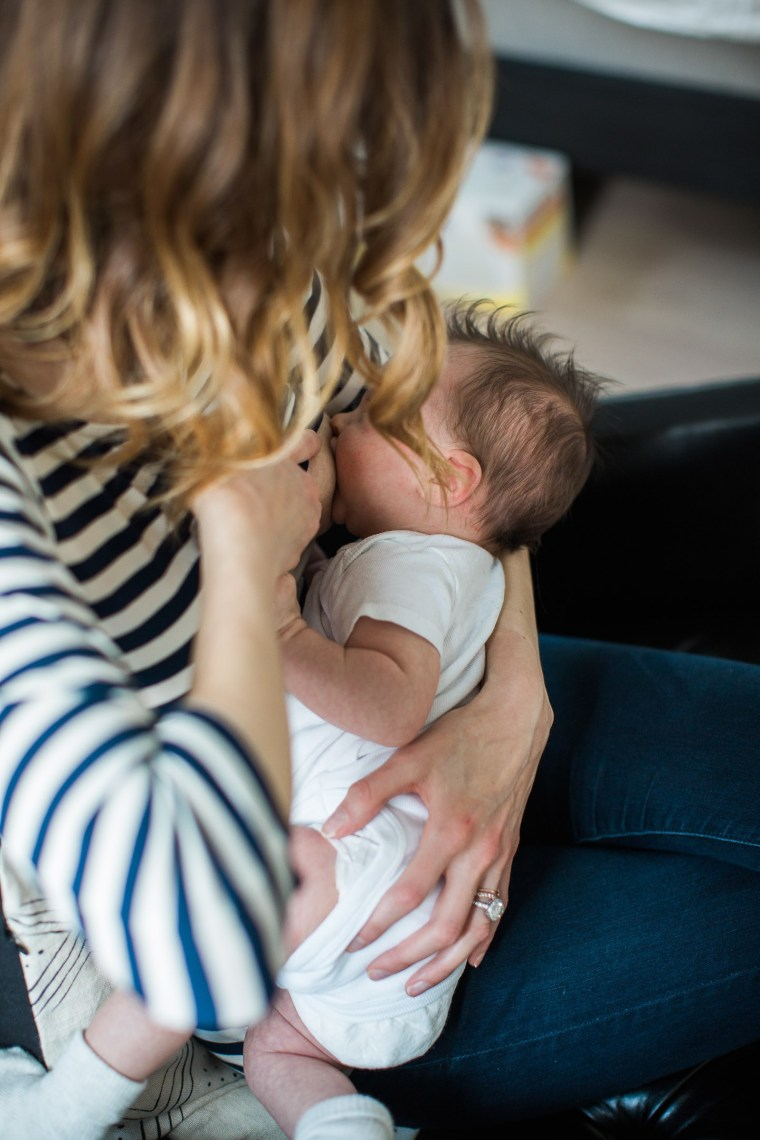 """""""I felt like the Breastfeeding Police were going to somehow know the second I made the decision and blame me for not trying hard enough, for not battling through and finding a solution,"""" Amurri Martino wrote in a blog post."""