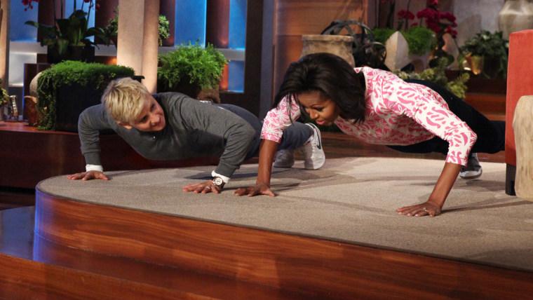 Image: Michelle Obama and Ellen DeGeneres