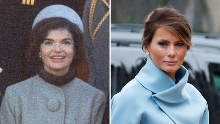Melania Trump and Jackie Kennedy inauguration dress