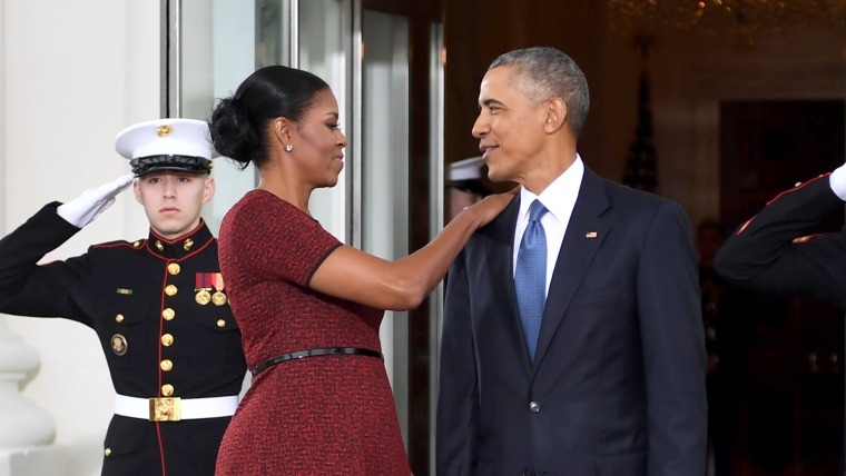 Michelle and Barack Obama at the Presidential Inauguration