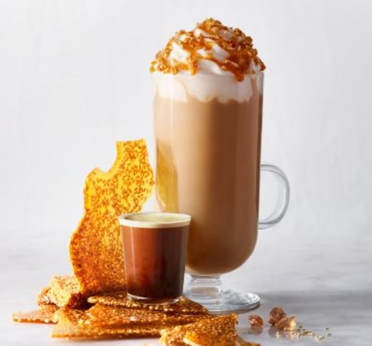 Starbucks Golden Sesame Caramel Crunch Latte