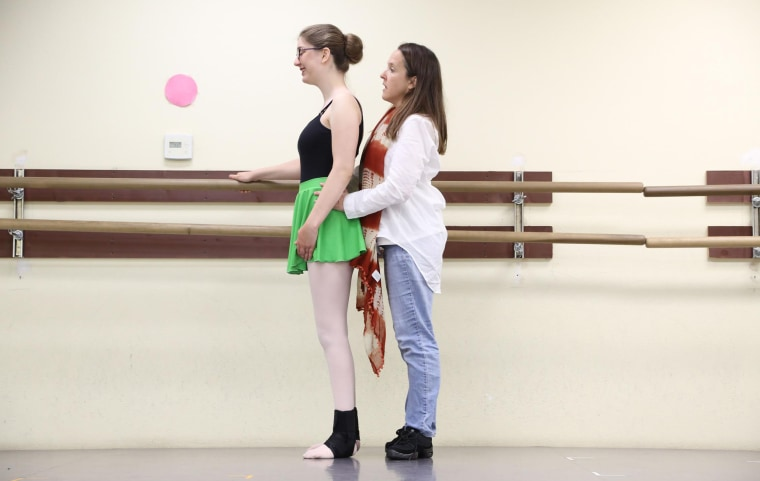 Sarah Hansen loves ballet and taking lessons has helped her walk