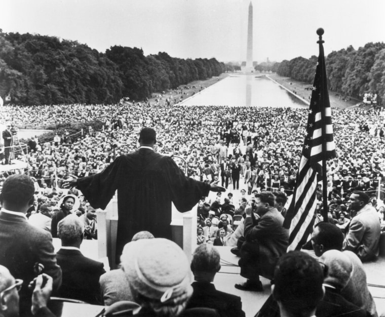 Image: King speaks to thousands who had made the Prayer Pilgrimage for Freedom in May 1957