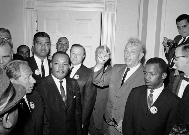 Image: Dr. Martin Luther King Jr., Roy Wilkins