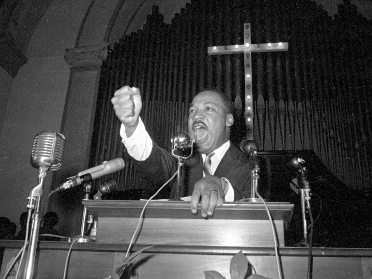 Image: King speaks in Eutaw, Alabama