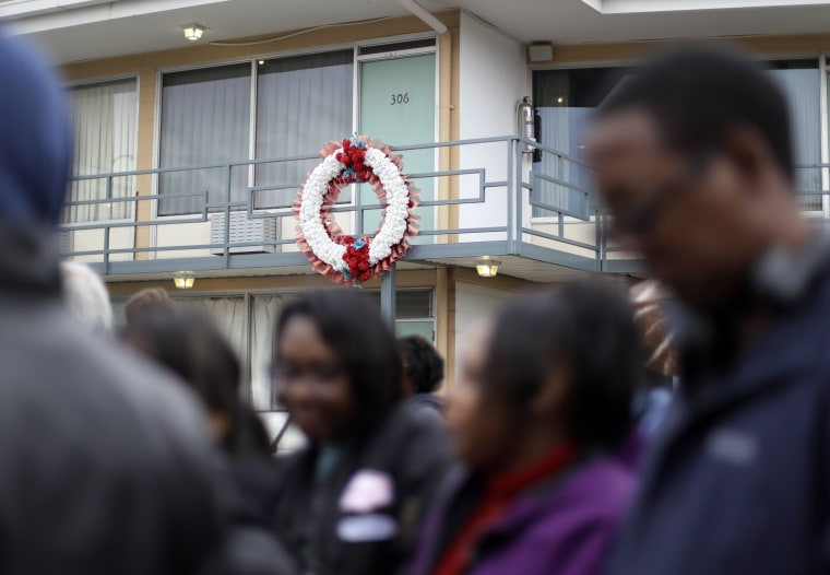Image: People wait in line to enter the National Civil Rights Museum on Martin Luther King Jr. Day on Jan. 16 in Memphis, Tennessee.