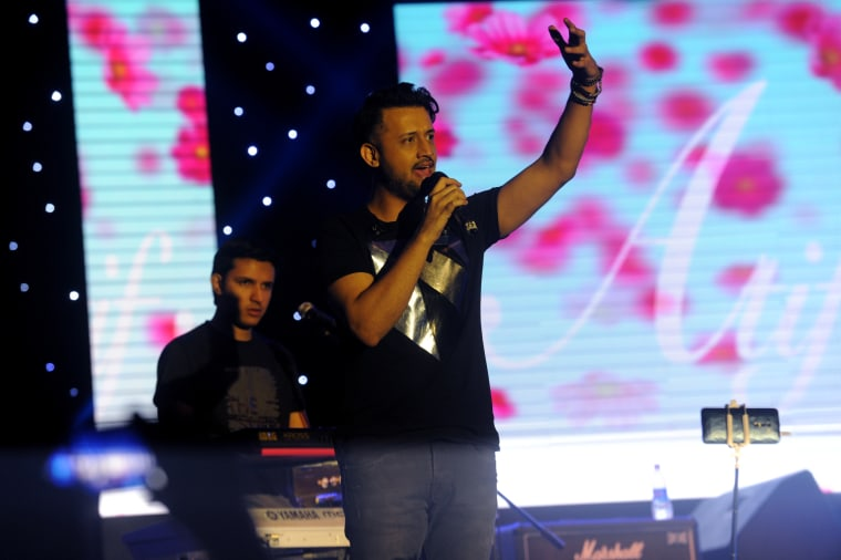 Image: Atif Aslam performs at 'Rhythm for All with Atif Aslam Night Live in Dhaka'