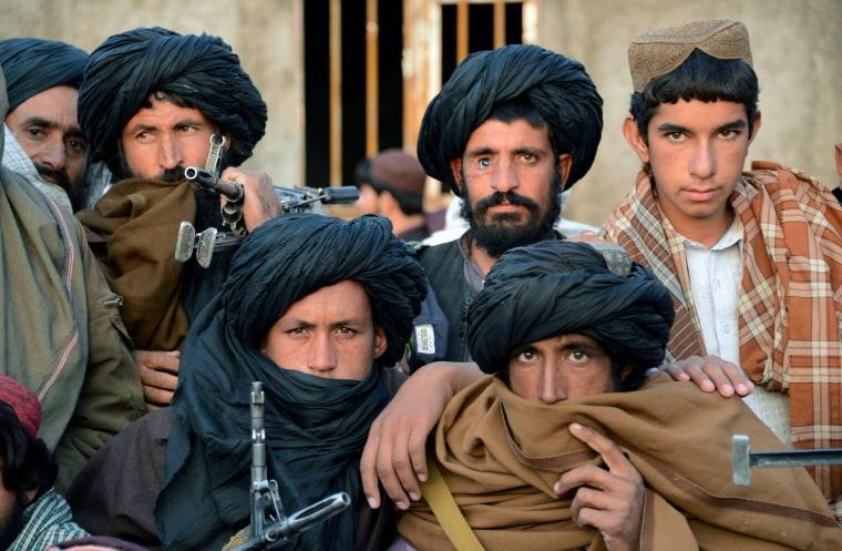 Image: Afghan Taliban fighters