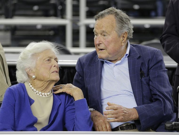 Image: Former President George H.W. Bush and his wife Barbara Bush
