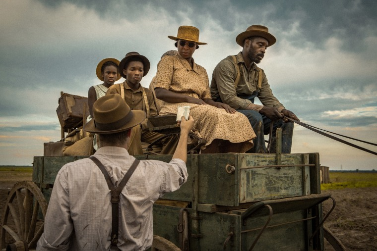 Garrett Hedlund, Mary J. Blige and Rob Morgan appear in Mudbound by Dee Rees. Courtesy of Sundance Institute.