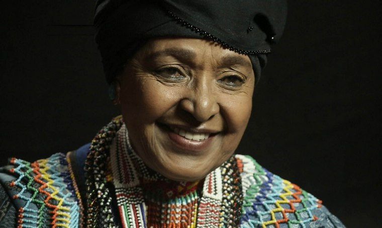 Winnie Mandela appears in WINNIE by Pascale Lamche. Courtesy of Sundance Institute.